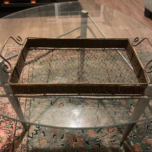 Metal table tray 8.5 x 14 inches